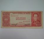 monedas de America - Bolivia -  1962 - 100 Bolivianos