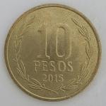 monedas de America - Chile -  2015 - 10 pesos