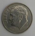monedas de : America : Estados_Unidos : 2014 P - one dime