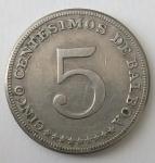 monedas de : America : Panamá : 1968 - 5 centésimos de balboa