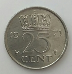 monedas de Europa - Islandia -  1971 - 25 cent
