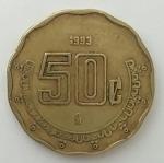 monedas de America - México -  1993 - 50 centavos