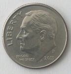 monedas de America - Estados Unidos -  2011 one dime