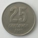monedas de America - Argentina -  1993 - 25 centavos