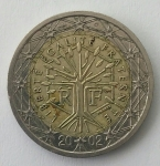monedas de : Europa : Francia : 2002 - 2 Euros