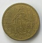 monedas de : Europa : Francia : 2000 - 50 centro euro