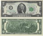 monedas de : America : Estados_Unidos : Notas de la Reserva Federal de 1976 - Serie tamaño pequeño de 1976