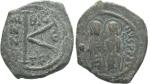 monedas de : Europa : Grecia :  Medio follis, Justino II (565-578)