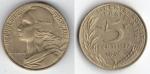 monedas de : Europa : Francia : 5 centimes