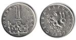 monedas de : Europa : República_Checa : 1 KORUNA
