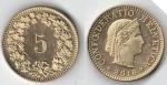 monedas de : Europa : Suiza : 5 centimos suizos