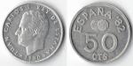 monedas de : Europa : España : ESPAÑA 82 50 cts