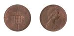 monedas de Europa - Reino Unido -  1 new penny