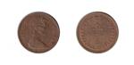 monedas de Europa - Reino Unido -  ½ new penny