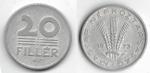monedas de Europa - Hungría -  20 filler