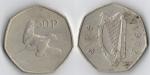 monedas de Europa - Irlanda -  50 pence