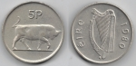 monedas de Europa - Irlanda -  5 pence