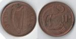 monedas de Europa - Irlanda -  1 penny