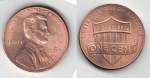 monedas de America - Estados Unidos -  one cent