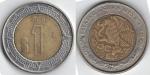 monedas de : America : México : 1 peso