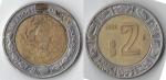 monedas de : America : México : 2 pesos