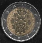 monedas de : Europa : Francia : 2 euros 2018  Bleuet de France