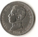 monedas de : Europa : España : Monarquia - 1904 - Alfonso XIII